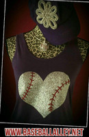 Whimsical Baseball Heart Flowy Tank