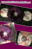 Lifetime Baseball Corsage in Deep Purple