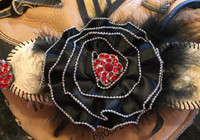 Lifetime Baseball Corsage in Black and Red