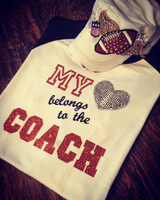 Football Coach Wife Girlfriend or Daughter's Tee