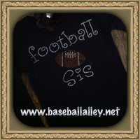 Football Sister Shirt in Bling