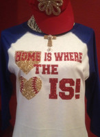 Home is Where the Heart IS Baseball Tee