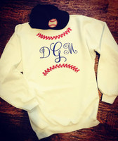 Monogrammed Baseball Seams Fleece