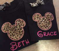 Cheetah Mickey Tees