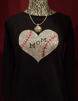 Personalized Baseball Heart Crew Neck Fleece