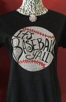 It's Baseball Y'all Glitter Baseball Tee