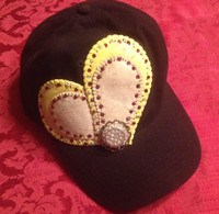 Double Duty Baseball Softball Heart Cap