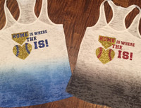 Home Is Where The Heart IS Baseball Tank