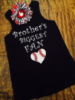 Brother's Biggest Fan Baseball Sister Tank