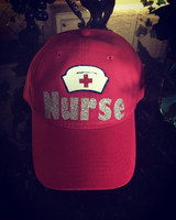 Nurse Cap in Glitter with Adjustable Back