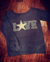 Cowboys Love Off Shoulder Fleece