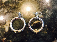 Artesian Baseball Hoop Earrings