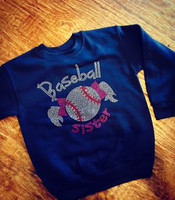 Baseball Sister Crew Neck Fleece