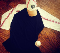 Baseball Raglan Blank Great for DIY!