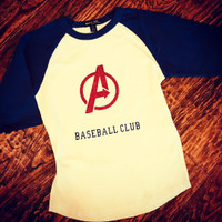 Custom Avengers Team Wear Baseball Raglan