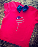 July 4th Toddler Tee and Bow Size 2T only