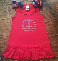 American Flag Peace Sign Infant Dress