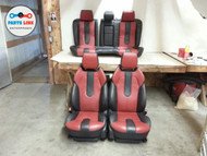 RANGE ROVER EVOQUE SEAT SEATS ASSEMBLY SET OF 4 W/O LCD 6 WAY POWER RED BLACK