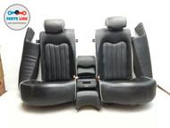 MASERATI QUATTROPORTE M139 REAR SEAT BLACK SEATS SET OF 7 LEATHER OEM