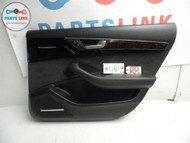 AUDI A8 A8L 11-12 RIGHT REAR PASSENGER SIDE INTERIOR DOOR TRIM PANEL BLACK OE