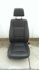 12-15 BMW X1 E84 SEAT FRONT RIGHT PASSENGER BLACK LEATHER W/O SPORT POWER MEMORY OEM