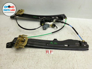 BMW 535I 535 F10 FRONT RIGHT WINDOW DOOR GLASS REGULATOR WITH MOTOR OEM
