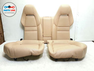 PORSCHE PANAMERA 970 REAR SEATS SEAT SET LUXOR BEIGE LEATHER OEM