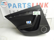 10 11 12 AUDI S4 B8 S-LINE LEFT REAR DOOR INTERIOR TRIM PANEL COVER BLACK OEM A4