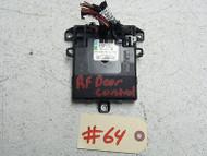 08 MERCEDES BENZ ML550 DOOR CONTROL MODULE COMPUTER FRONT RIGHT 1648205985 OEM