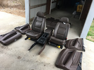 BMW X5 E70 SEAT SET FRONT REAR LEATHER TOBACCO BROWN SEATS 7PC MEMORY HEAT POWER
