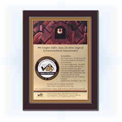 black forest clock association certification