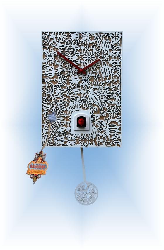 Romba White Silhoutte Q Cuckoo Clock 12 39 39 Bavarian
