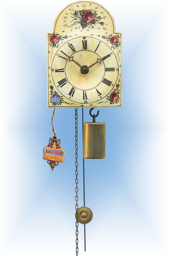 Rombach & Haas | 195 | 5''H | Flower Collage | Shield style | jockele clock | full view