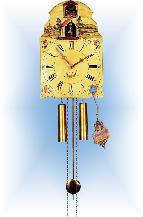 Rombach & Haas | 7378 | 16''H | Capuchin Friar | Shield style | painted clock | full view