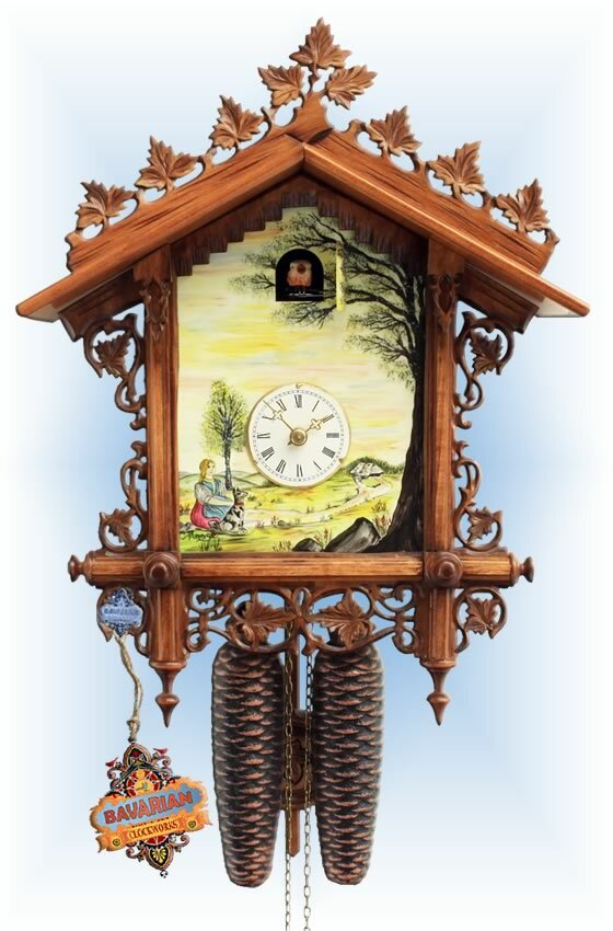 Rombach & Haas | 3416 | 18''H | Bahnhausle Shield | Vintage | cuckoo clock | full view