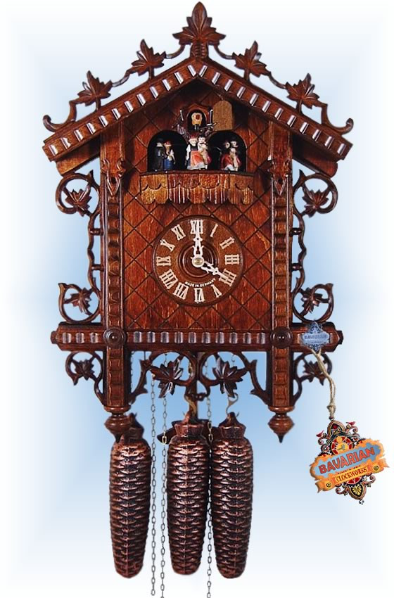 August Schwer | 5.8120.01.c | 17''H | 19th Century Rail | Vintage | cuckoo clock | full view