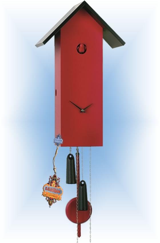 Rombach & Haas   sl15-3   16''H   Simple line 3   Modern   cuckoo clock   full view