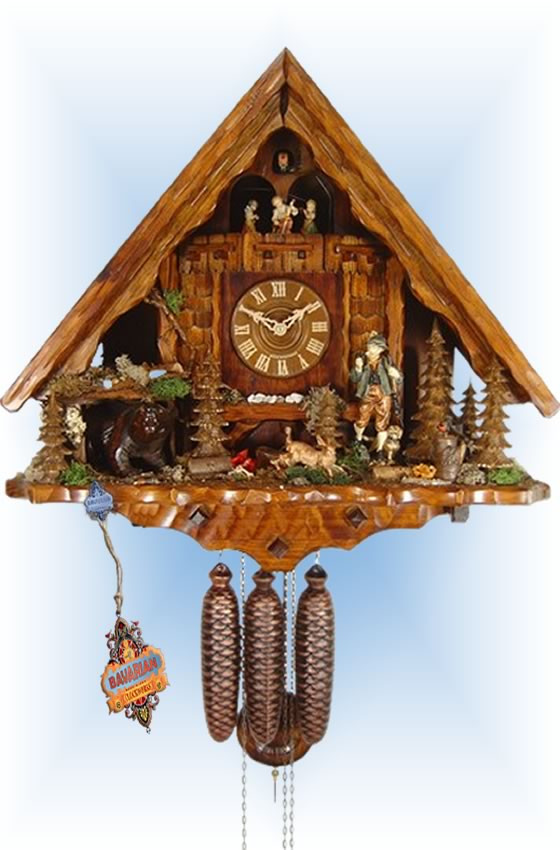 August Schwer | 7.7794.01.p | 20''H | Hunting Lodge | Chalet style | cuckoo clock