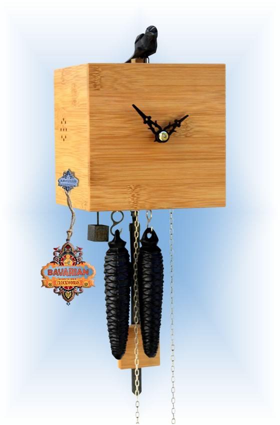 Rombach & Haas | bb11-11 | 7''H | Freebird 1 Pine | Modern cuckoo clock | full view