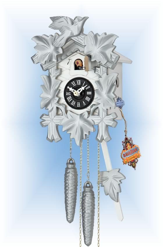 Hekas   1606S   8''H   Silver Mod   Modern   cuckoo clock   full view
