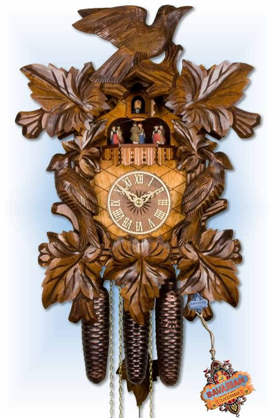 Adolf Herr | 472-1 8tmt | 19''H | Cuckoo Birds | Traditional | cuckoo clock | full view