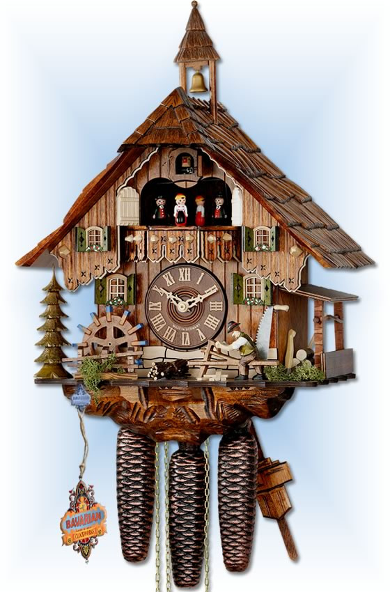 Forest Farmhouse cuckoo clock by Hekas | Chalet | 6C8-3683/8 | full