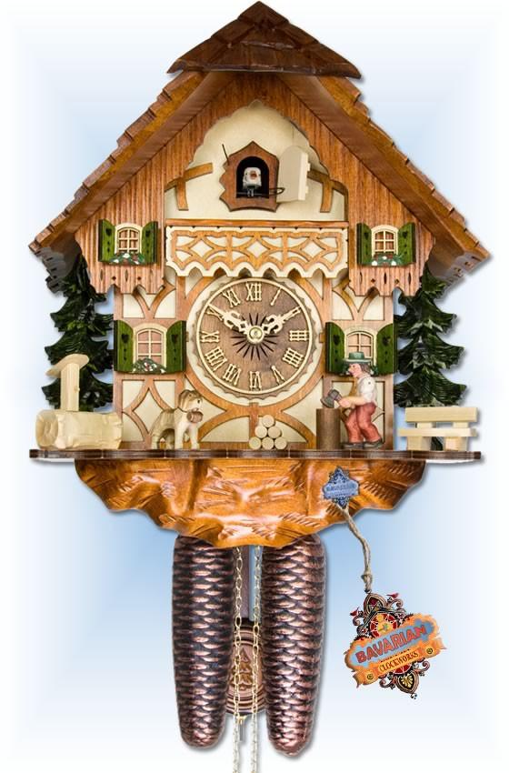Adolf Herr | 317/1-8T | 14''H | Wood Chopper | Chalet | cuckoo clock | full view
