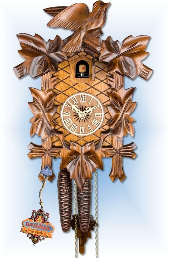 Adolf Herr | 100/1 | 12''H | Vine Leaves | Traditional | cuckoo clock | full view