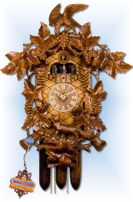 Adolf-Herr   621/1   24''H   Fox Vineyard   Traditional   cuckoo clock   full view