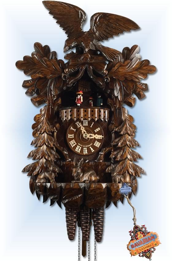 August Schwer | 4.6511.01.P | 17''H | Eagle Rabbit | 1 Day | traditional cuckoo clocks |