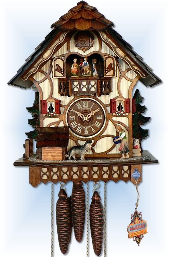 Anton Schneider 1 Day Farm Play cuckoo clock - Full View