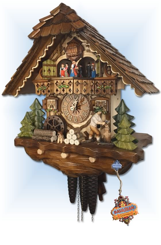 Hekas   3702   14''H   Choppers Cottage   Chalet style   cuckoo clock   right