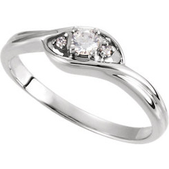 Ladies Diamond Promise Anniversary Lovers Couples Ring .40CTTW