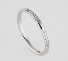 14kt White 1/6 CTW Diamond Machine Set Eternity Band